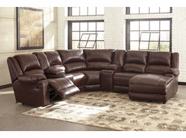 Ashley Furniture Armless Recliner, Mahogany