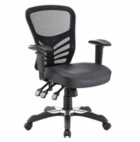 Articulate Vinyl Office Chair, Black [FREE SHIPPING]