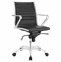 Ascend Mid Back Office Chair, Black [FREE SHIPPING]