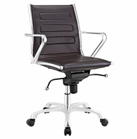 Ascend Mid Back Office Chair, Brown [FREE SHIPPING]