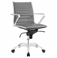 Ascend Mid Back Office Chair, Gray [FREE SHIPPING]