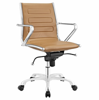 Ascend Mid Back Office Chair, Tan [FREE SHIPPING]