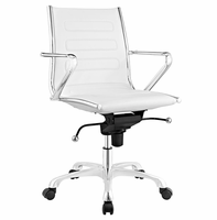 Ascend Mid Back Office Chair, White [FREE SHIPPING]