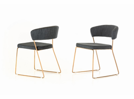 Ashland - Modern Grey & Rosegold Dining Chair (Set of 2)