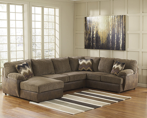 Ashley 24100 16 34 67 cladio 3 piece sectional sofa with for Ashley chaise sectional