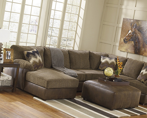 Ashley 24100 16 34 67 Cladio 3 Piece Sectional Sofa With Left Arm Chaise