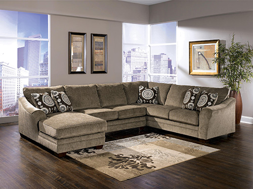 Ashley 36901-16-34-67 Cosmo 3-piece Sectional Sofa with Left Arm Chaise : 3 piece sectional sofa with chaise - Sectionals, Sofas & Couches