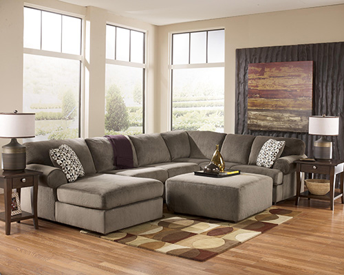 ashley jessa place 3piece sectional sofa with left arm chaise - 3 Piece Sectional Sofa