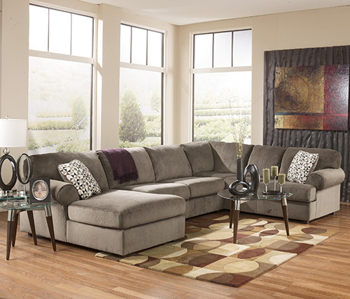 Ashley 39802 16 34 67 jessa place 3 piece sectional sofa for Chaise 3 places