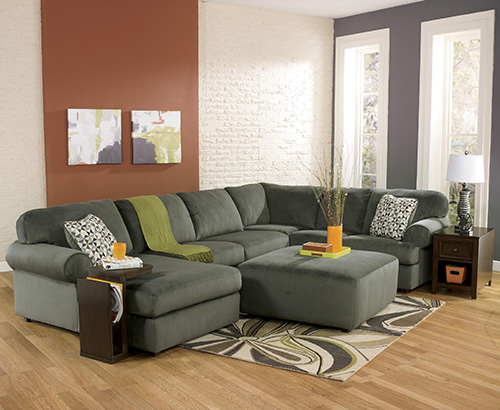 ashley jessa place 3piece sectional sofa with left arm chaise