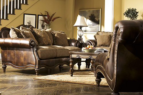 Ashley 84303 15 claremore chaise for Ashley claremore chaise