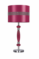 Nyssa - L801584 - Acrylic Table Lamp (1/CN) - Hot Pink/Silver Finish