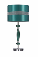 Nyssa - L801644 - Acrylic Table Lamp (1/CN) - Teal/Silver Finish