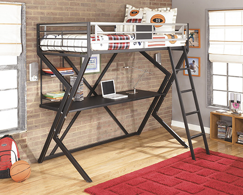 Ashley B106 60 Dinsmore Twin Loft Bed With Desk