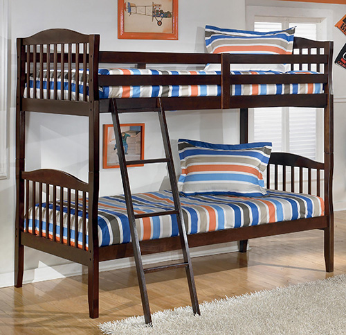 Ashley B455-57R Rayville Twin Bunk Bed Rails and Ladder