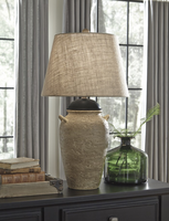 Dargiana - L100504 - Ceramic Table Lamp (1/CN) - Beige