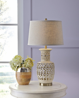 Jayme - L100524 - Ceramic Table Lamp (1/CN) - Cream