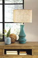 Jenci - L100584 - Ceramic Table Lamp (1/CN) - Antique Teal