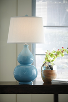 Saffi - L100044 - Ceramic Table Lamp (1/CN) - Light Blue