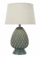 Saidee - L100264 - Ceramic Table Lamp (1/CN) - Teal