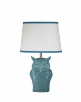 Sarva - L846554 - Ceramic Table Lamp (1/CN) - Blue
