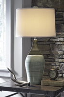 Niobe - L123884 - Ceramic Table Lamp (2/CN) - Multi Gray