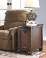 Brookfield - T496-7 - Chair Side End Table - Dark Brown