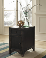Gavelston - T732-7 - Chair Side End Table - Black