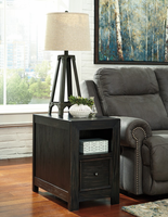 Gavelston - T752-7 - Chair Side End Table - Rubbed Black