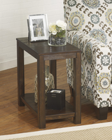 Grinlyn - T660-7 - Chair Side End Table - Rustic Brown