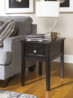 Henning - T479-7 - Chair Side End Table - Almost Black