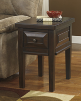 Hindell Park - T695-7 - Chair Side End Table - Rustic Brown