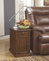 Laflorn - T127-553 - Chair Side End Table - Dark Brown