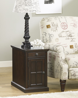Laflorn - T127-668 - Chair Side End Table - Dark Brown