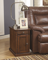 Laflorn - T127-565 - Chair Side End Table - Medium Brown