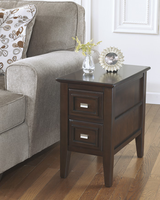 Larimer - T654-7 - Chair Side End Table - Dark Brown