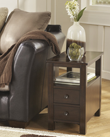 Marion - T477-7 - Chair Side End Table - Dark Brown