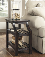 Mestler - T580-7 - Chair Side End Table - Rustic Brown