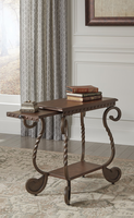 Rafferty - T382-7 - Chair Side End Table - Dark Brown