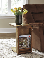 Tamonie - T830-17 - Chair Side End Table - Medium Brown