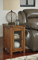 Tamonie - T830-7 - Chair Side End Table - Medium Brown
