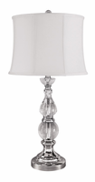 Marcelo - L428034 - Crystal Table Lamp (1/CN) - Clear/Silver Finish