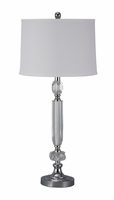 Tajo - L428014 - Crystal Table Lamp (1/CN) - Clear/Silver Finish