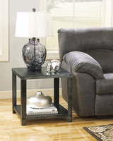 Hattney - T560-2 - D Square End Table - Gray