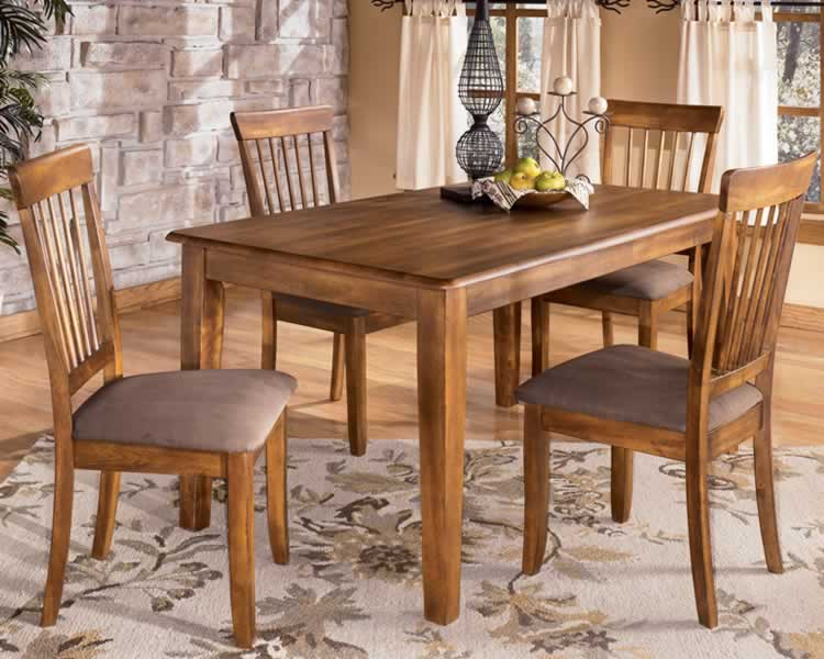 Rustic Brown Berringer Dining Room Bench View 3 Ashley