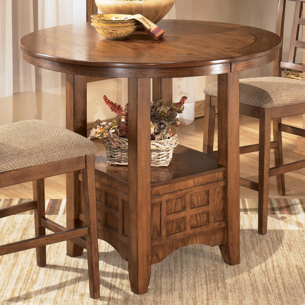 Ashley D319 42 Cross Island Oval Dining Room Counter Extension Table