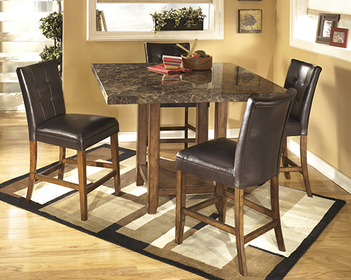 Ashley D328 33 124 Lacey Square Dining Room Counter Table Set