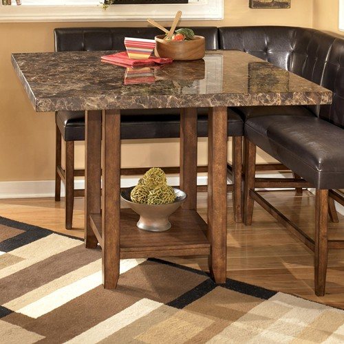 Ashley D328 33 Lacey Square Dining Room Counter Table