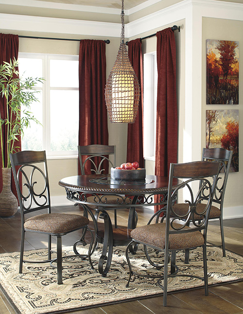 ashley d329 15 glambrey round dining room table