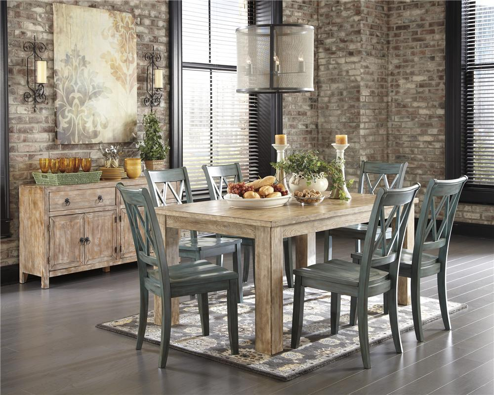 Ashley Dining Room Furniture ashley d540-225-101 mestler 5-piece rectangular dining room table